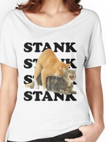 STANK CAT hoot SWAGGIN hoot SHIRT AIGHT Women's Relaxed Fit T-Shirt