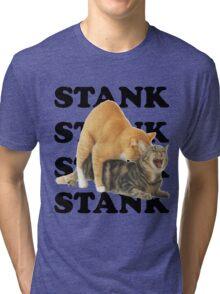 STANK CAT SEX SWAGGIN ASS SHIRT AIGHT Tri-blend T-Shirt