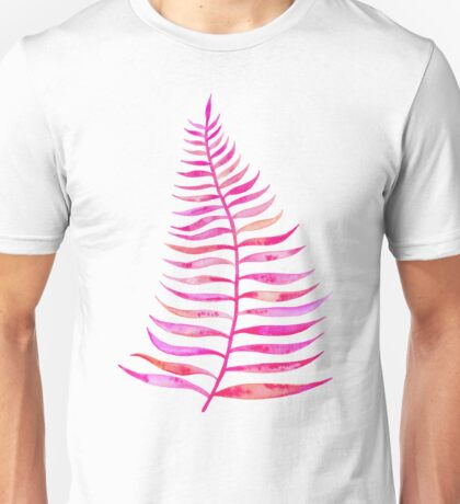 Pink Palm Leaf Unisex T-Shirt