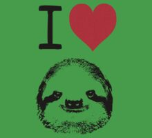I Love Sloths Baby Tee