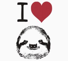 I Love Sloths Kids Tee
