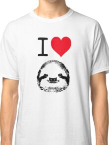 I Love Sloths Classic T-Shirt