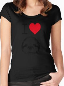 I Love Sloths Women's Fitted Scoop T-Shirt