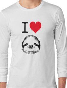 I Love Sloths Long Sleeve T-Shirt