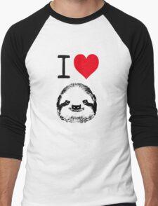 I Love Sloths Men's Baseball ¾ T-Shirt