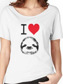 I Love Sloths Women's Relaxed Fit T-Shirt