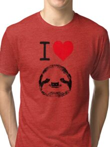 I Love Sloths Tri-blend T-Shirt
