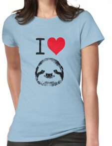 I Love Sloths Womens Fitted T-Shirt