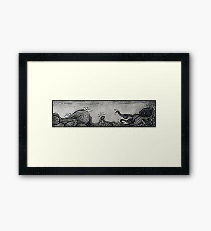 Paper Sea  Framed Print