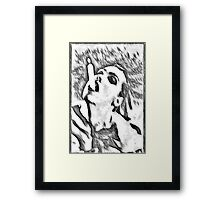 Need a light? - black and white Framed Print