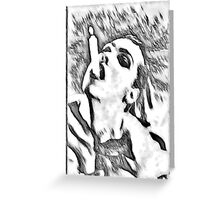 Need a light? - black and white Greeting Card