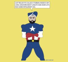 Captain America in a Turban Kids Tee