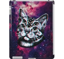 Psychedelic Cat (3D vintage effect) iPad Case/Skin