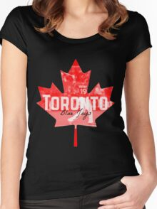 Toronto Blue Jays Canada Women's Fitted Scoop T-Shirt