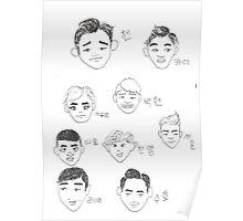 Cartoon Exo Poster