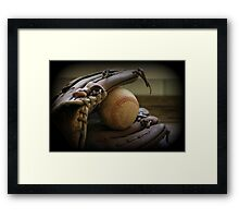 Glove-Ball Framed Print