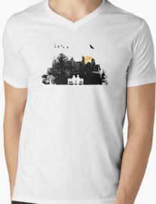 City Moonrise Mens V-Neck T-Shirt
