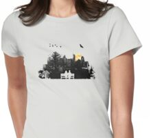 City Moonrise Womens Fitted T-Shirt