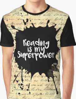 Reading is my Superpower (Vintage Paper) Graphic T-Shirt