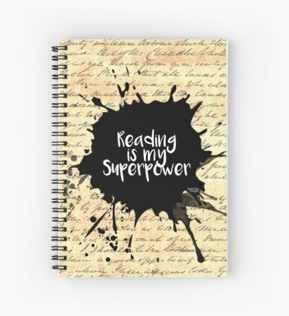 Reading is my Superpower (Vintage Paper) Spiral Notebook