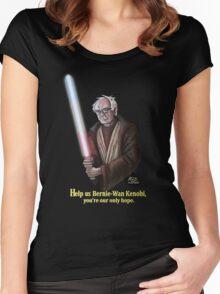 Help us Bernie-Wan Kenobi! Women's Fitted Scoop T-Shirt