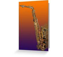 Rocking Sax Greeting Card