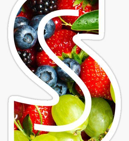 The Letter S - Fruit Sticker