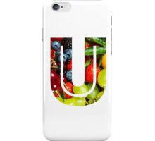 The Letter U - Fruit iPhone Case/Skin