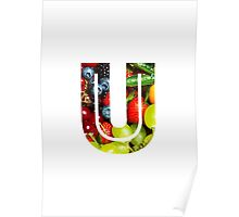 The Letter U - Fruit Poster