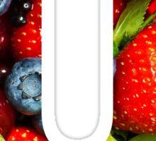 The Letter U - Fruit Sticker