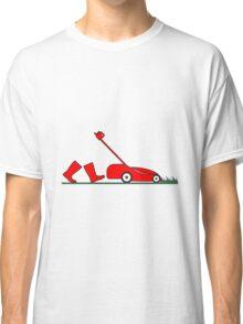 lawn mowing garden lawnmower Classic T-Shirt