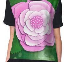 Pink Flower Chiffon Top