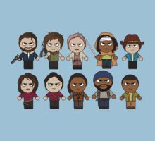 The Walking Dead - Main Characters Chibi - AMC Walking Dead One Piece - Short Sleeve