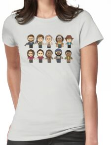 The Walking Dead - Main Characters Chibi - AMC Walking Dead Womens Fitted T-Shirt