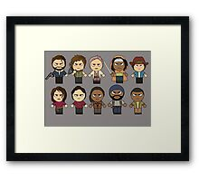 The Walking Dead - Main Characters Chibi - AMC Walking Dead Framed Print