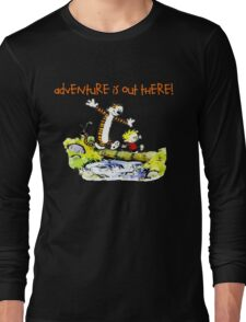 Calvin and Hobbes' Wonderful Adventure Long Sleeve T-Shirt