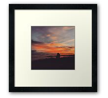 Orange Sunset on the Water Framed Print