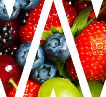 The Letter W - Fruit Sticker