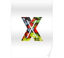 The Letter X - Fruit Poster