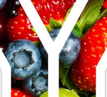 The Letter Y - Fruit Sticker