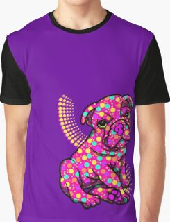 Colourful Dotty Dog  Graphic T-Shirt