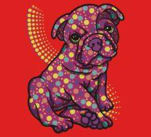 Colourful Dotty Dog  One Piece - Short Sleeve