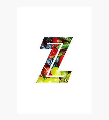 The Letter Z - Fruit Photographic Print
