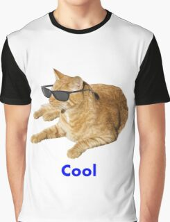 Cool Cat With Sunglasses Graphic T-Shirt