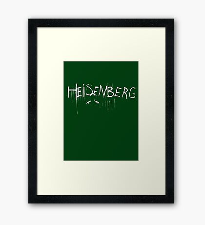 My name is Heisenberg - Graffiti Spray Paint Breaking Bad Framed Print