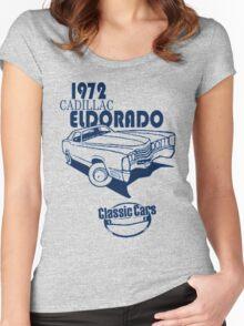 Classic Car 1972 Cadillac Eldorado Women's Fitted Scoop T-Shirt
