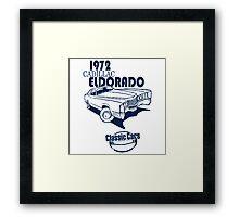 Classic Car 1972 Cadillac Eldorado Framed Print