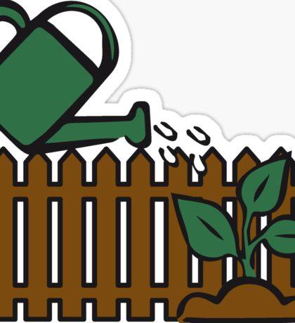 Garden watering plant Sticker