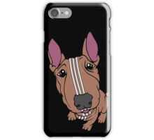Sporty Bull Terrier Tan and White iPhone Case/Skin