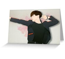 BTS J-Hope on Stage  - Watercolor Brush Backgorund Greeting Card